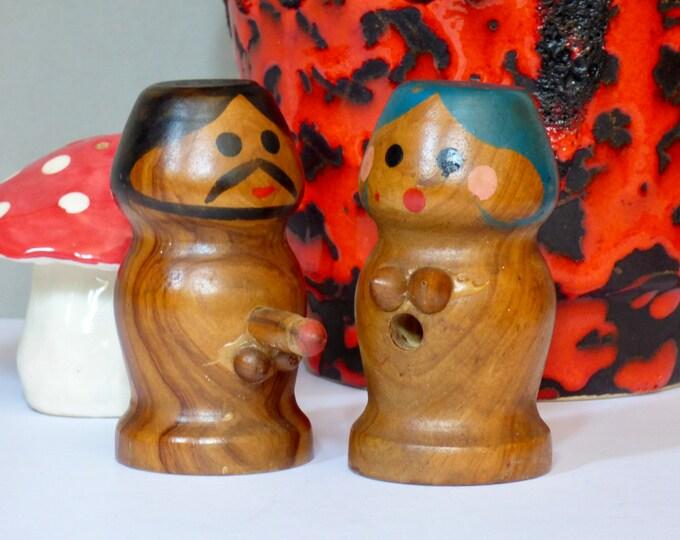 Vintage Risqué salt and pepper pots