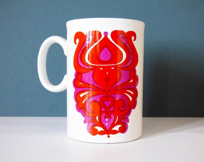 Mug Staffordshire potteries England Vintage Retro Psychedelic