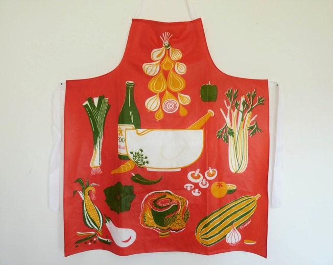 Vintage oilcloth Apron