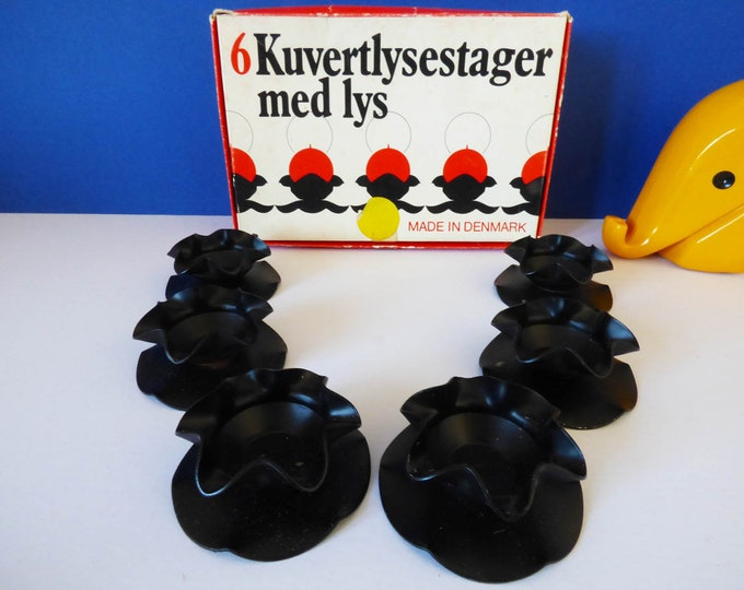 Candle holders Metal danish Kuvertlysestager Med Lys