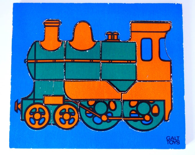 Train Puzzle Vintage wooden Galt toys