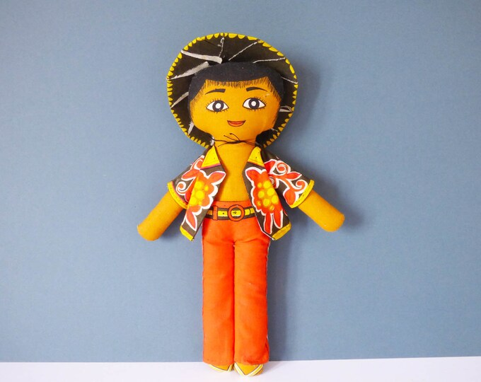 Vintage Cloth doll by Belinda Lyon for Oxfam UK
