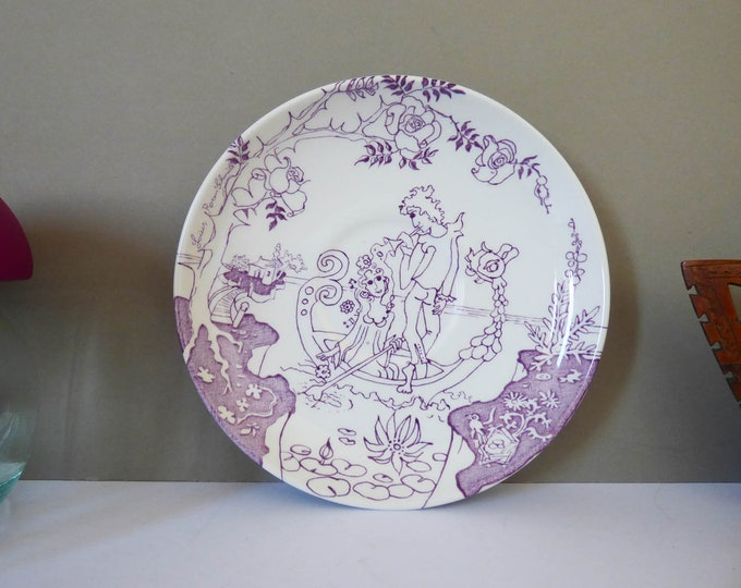 Louis Rosen Schmidt for Irma Denmark Wedgwood Large Saucer