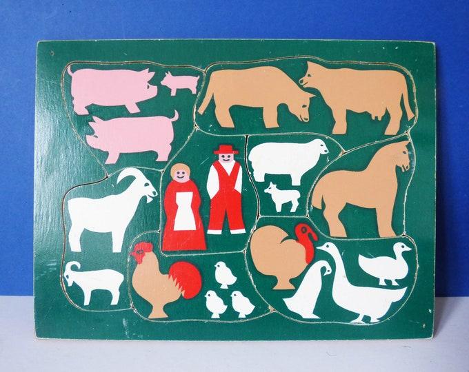 Vintage Galt wooden farm puzzle