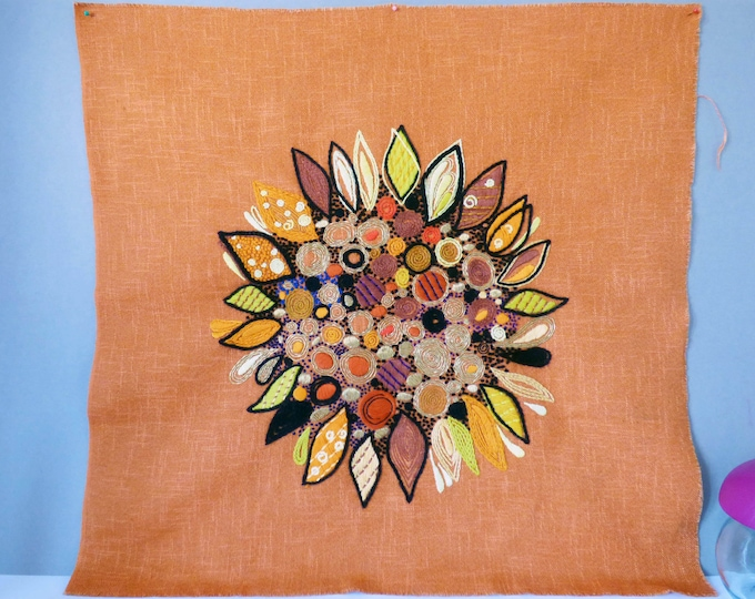 Penelope tapastry Sungold wall hanging design byJoyce Cowy Evans