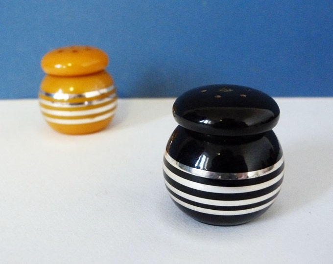 Bakelite Catalin salt and pepper pots West German