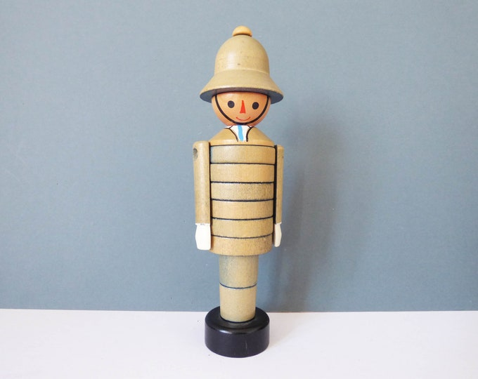 Vintage Policeman stacking tower toy