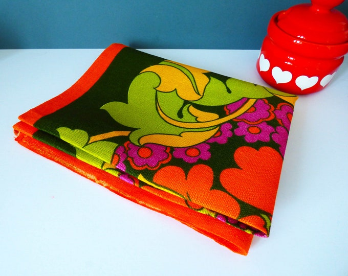 Tea towel psychedelic flower power