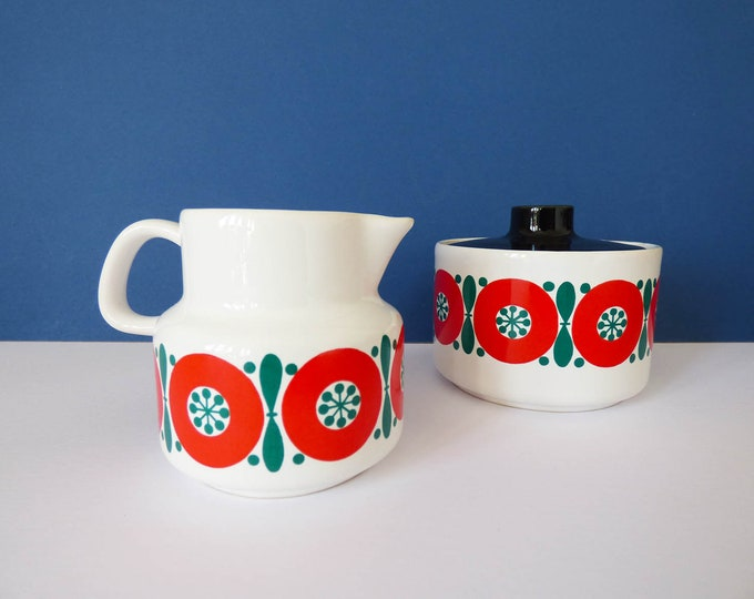 Milk jug & sugar bowl Melitta West Germany