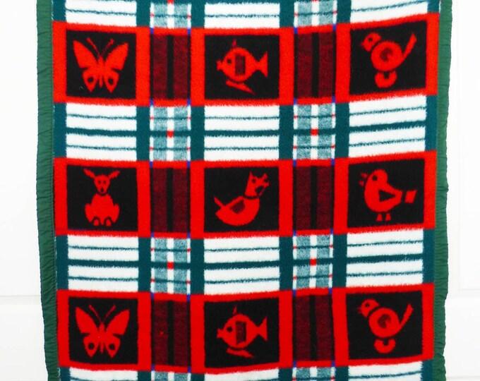 Vintage blanket Holland single childrens size