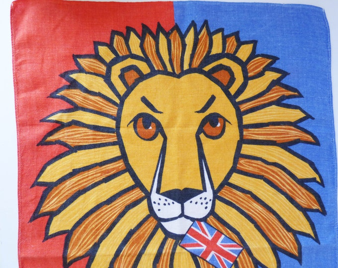 Vintage British Lion tea towel by Ulster of Ireland