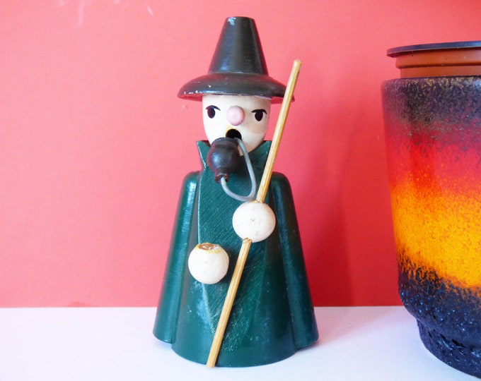 Erzgebirge Incense burner vintage Witch / wizard