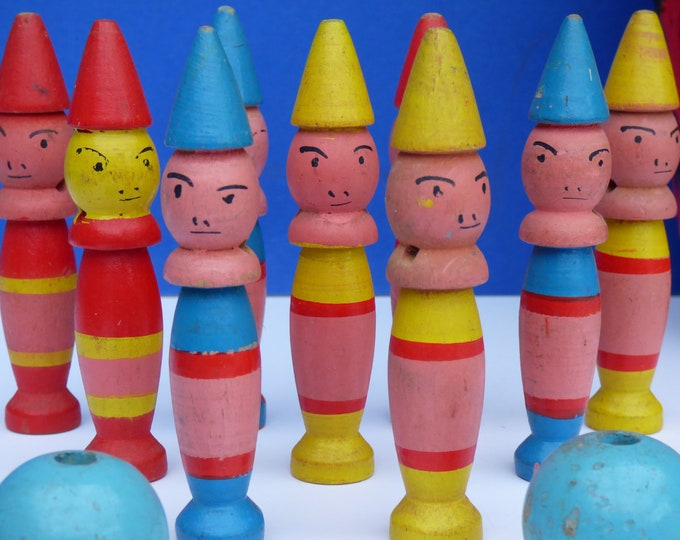 Vintage Skittles Hand painted French
