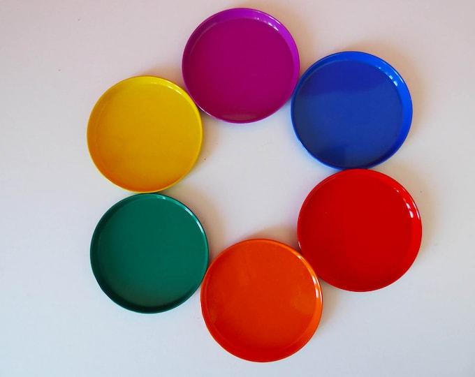 Vintage rainbow coasters