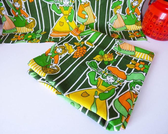 Vintage Printed Tea Towels