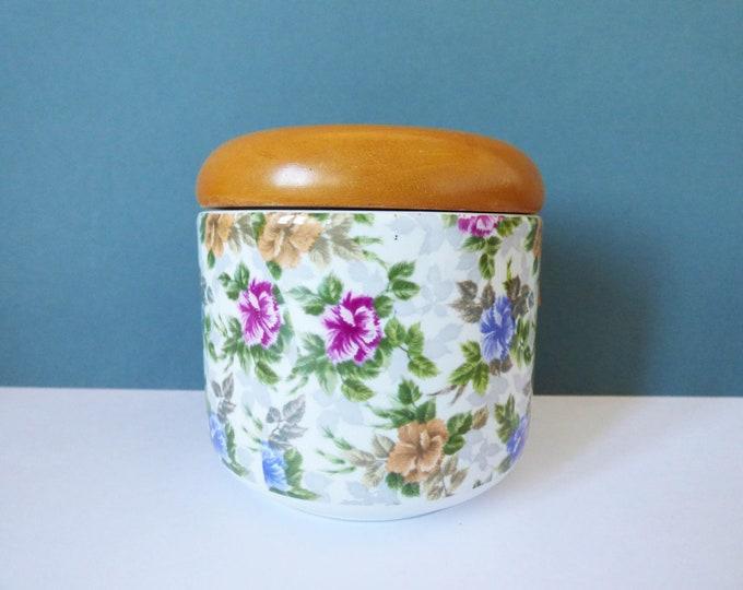 Franco Pozzi storage jar shabby chic vintage