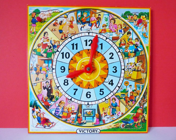 Vintage wooden Victory clock puzzle boxed