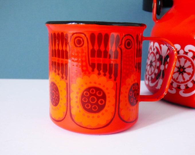 Arabia Finel Lintu enamel mug