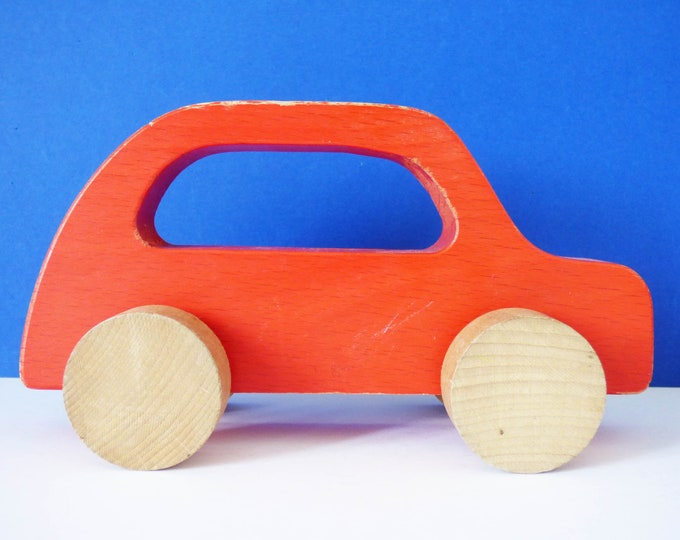Sigikid Push along wooden toy car