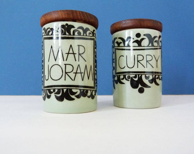 Rorstrand Kulinar Sweden herb and spice jars vintage scandinavian