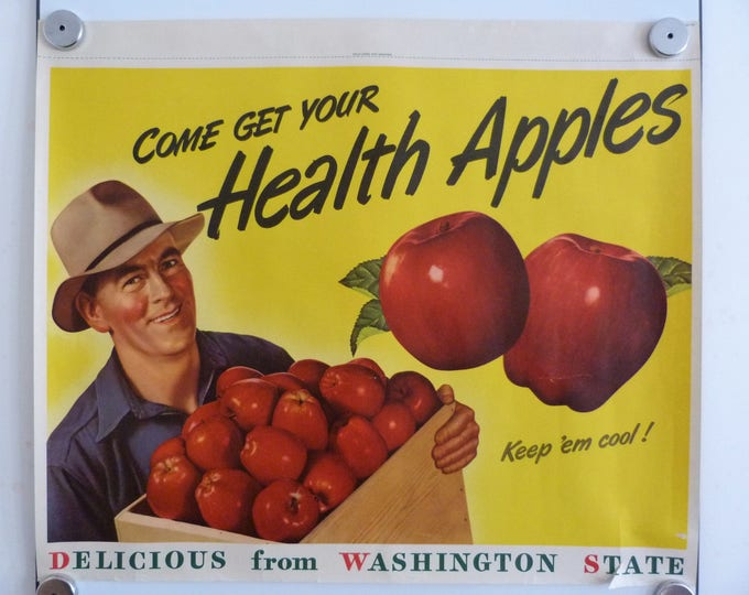 Washington State Apple Poster Vintage