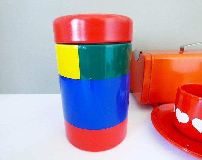 Metal storage tin by Brabantia block colours