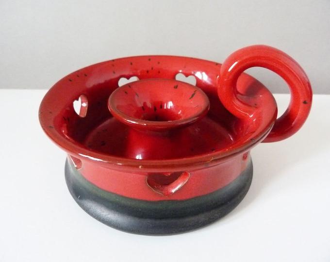 Ceramic Ole Christensen candle stick holder Danish
