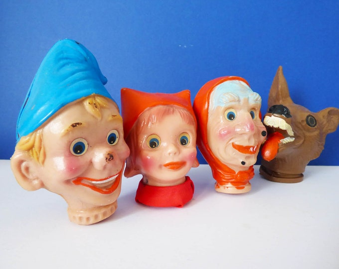 Little red Riding hood plastic puppet heads