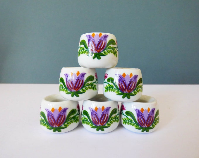 6 x Funny designs mini candle stick holders made in west Germany