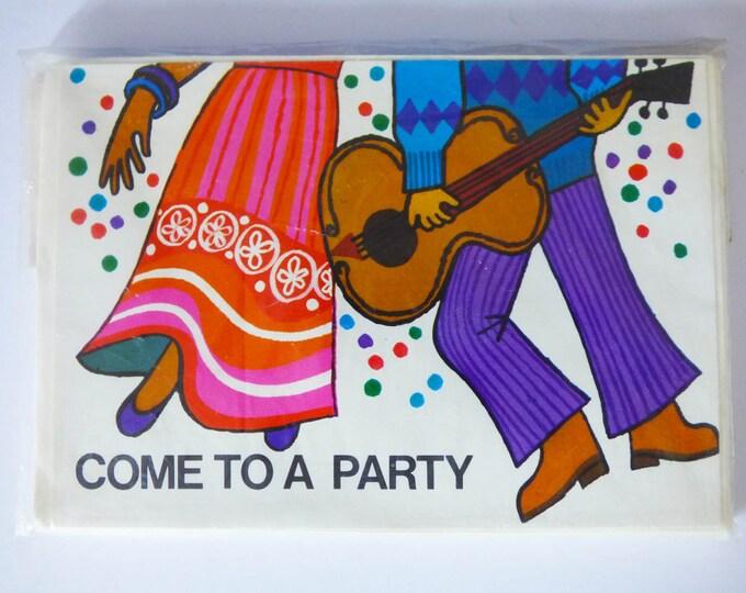 Vintage party invitations 1970's Originals