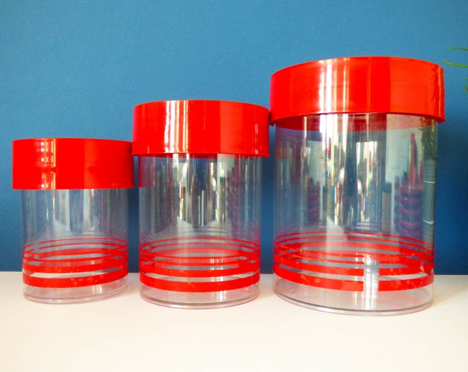 Eric Kold Danish plastic screw lid storage jars