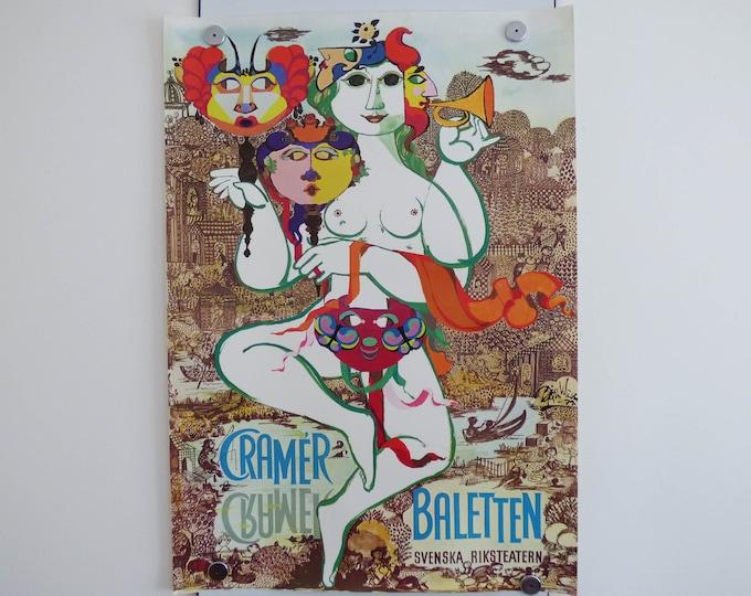 Bjorn Wiinblad Print Poster Danish Art  Cramer Baletten