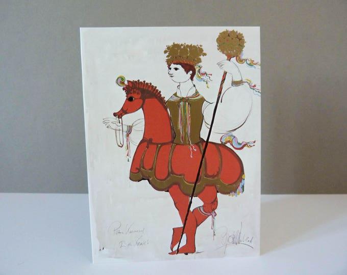 Bjorn Wiinblad Greetings card Costume for Prince Carnival