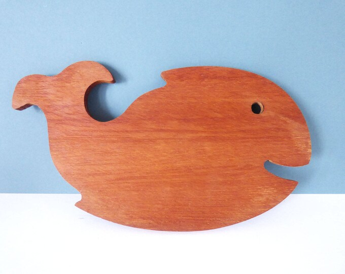 Vintage mini Whale bar board chopping board / cheese board
