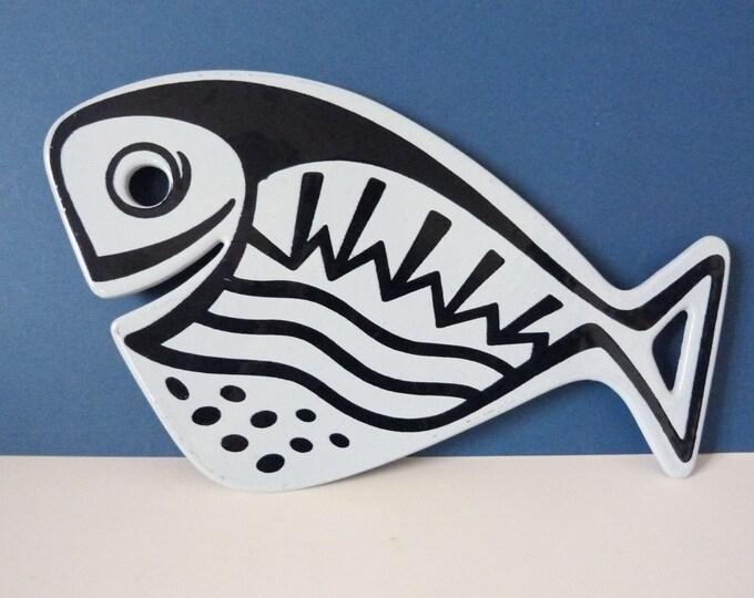 Enamel Fish Trivet Voss Denmark Scandinavian