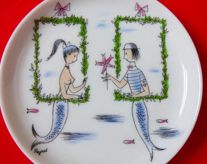 Raymond Peynet Mermaid Mini plate R Rosenthal Studio-line Germany