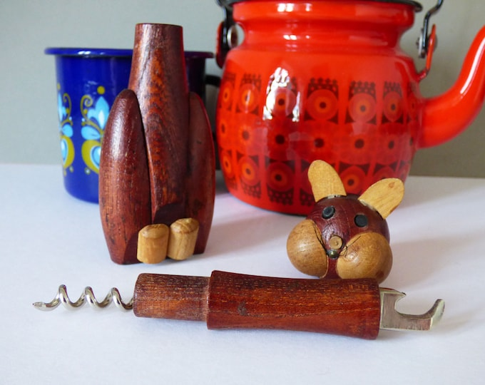 Vintage cat corkscrew and bottle opener Gunnar Flörning