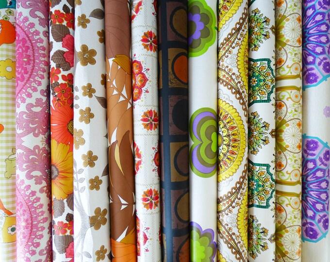 Wallpaper large sample pack  52cm x 29 cm  Vintage Retro 12 sheets