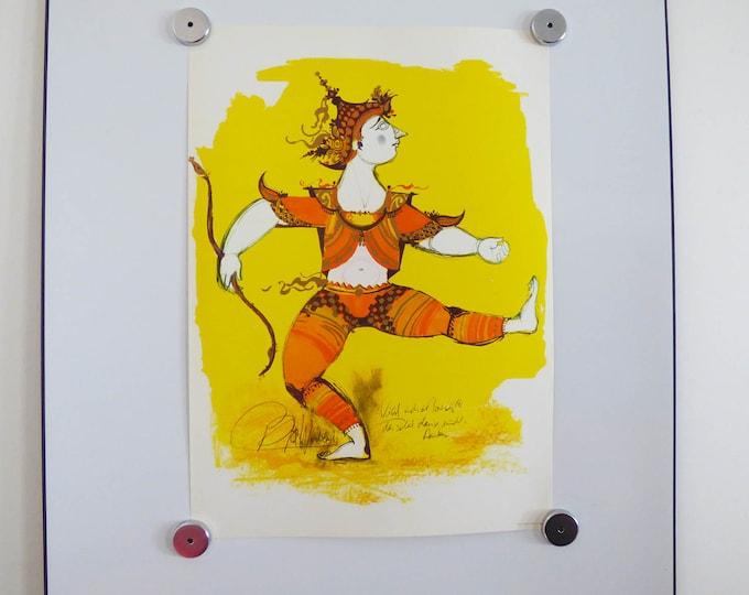 Bjorn Wiinblad print poster Indian Warrior