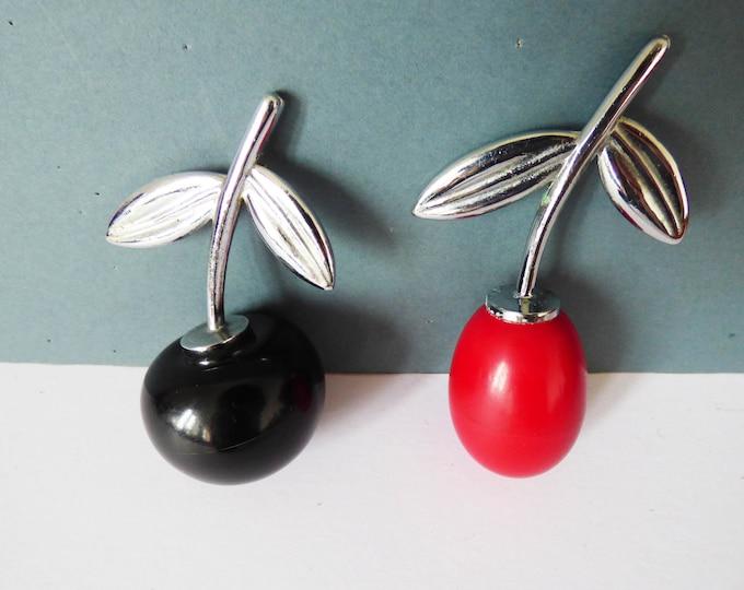 1950's / 1960's cherry & plum fruit salt and pepper pots
