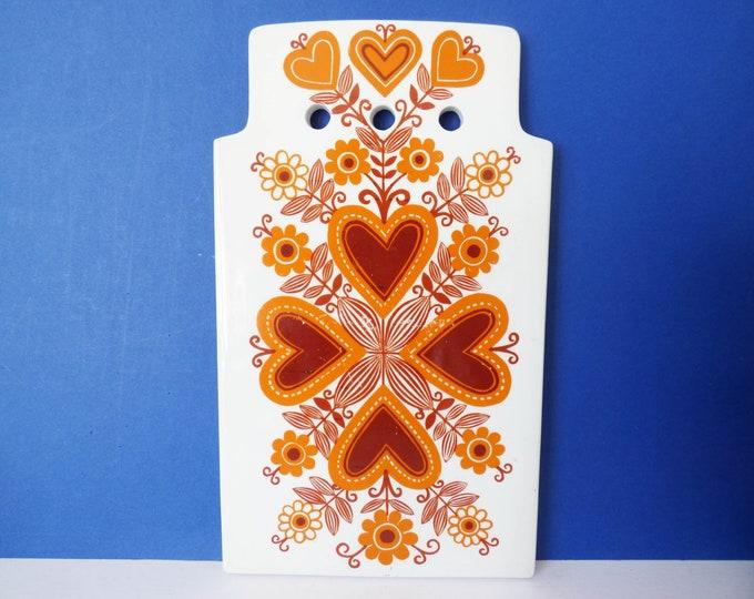 Arabia cheese / cutting Board vintage ceramic