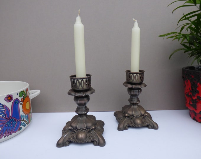 Oneida Silver plated candle holders