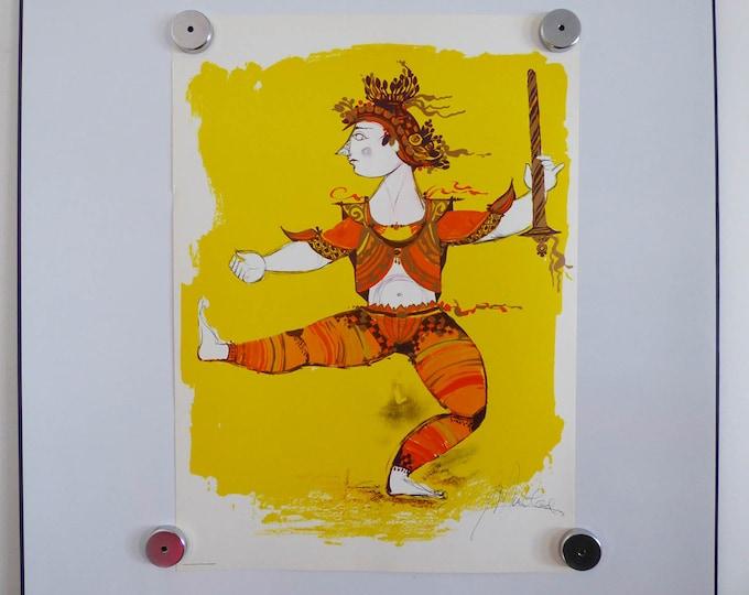 Bjorn Wiinblad print poster Indian Warrior (2)