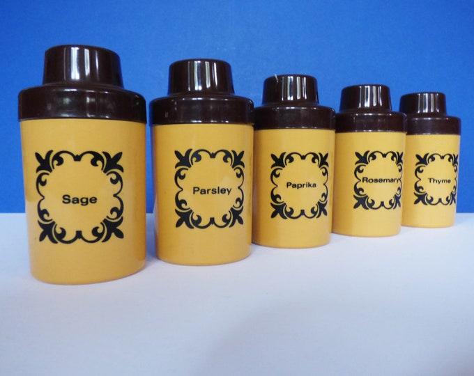 Herb Spice Jars vintage 1960s East German