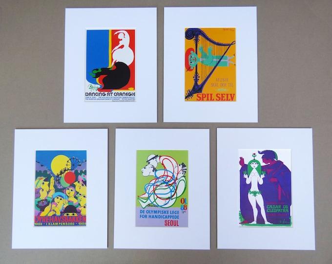 Bjorn Wiinblad mounted litho vintage print