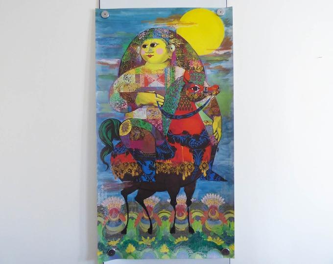 Bjorn Wiinblad Print Poster original 1001 Nats Arabian Nights Huge Original Version.
