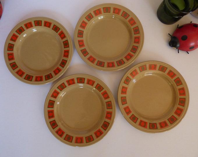 Staffordshire Potteries Op Art Side Plates
