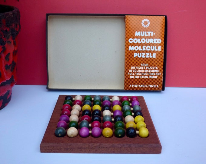 Vintage Pentangle Molecule puzzle .