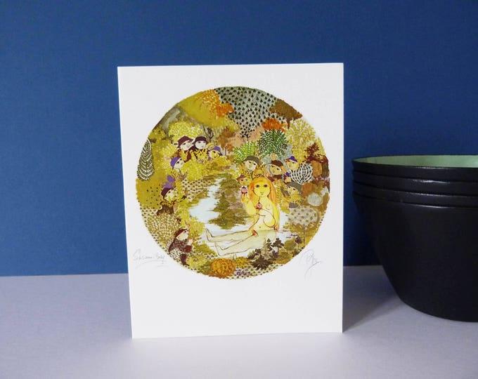 Bjorn Wiinblad vintage Greetings card