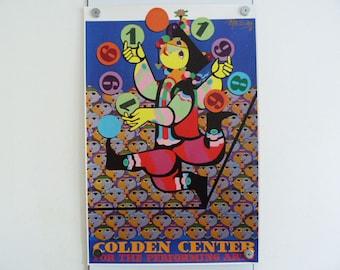 Bjorn Wiinblad Original Poster Golden Center for the Performing Arts 1989 Art Danish